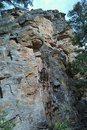 Rock Climbing Photo: ez rider goes  up left side of photo, on orange ro...