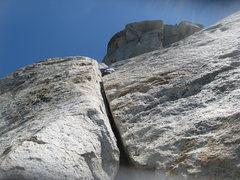 Rock Climbing Photo: Agina starting up pitch 2.  6-26-10
