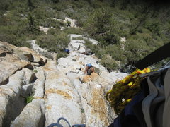 Rock Climbing Photo: Albert coming up the 1st pitch from the pitch 1 be...