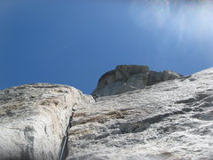 Rock Climbing Photo: Agina getting going again to the 2nd pitch belay. ...