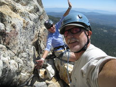 Rock Climbing Photo: Agina and I on the 3rd pitch belay ledge. Nice and...