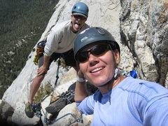 Rock Climbing Photo: Agina self portrait. Or so she thought.  6-26-10