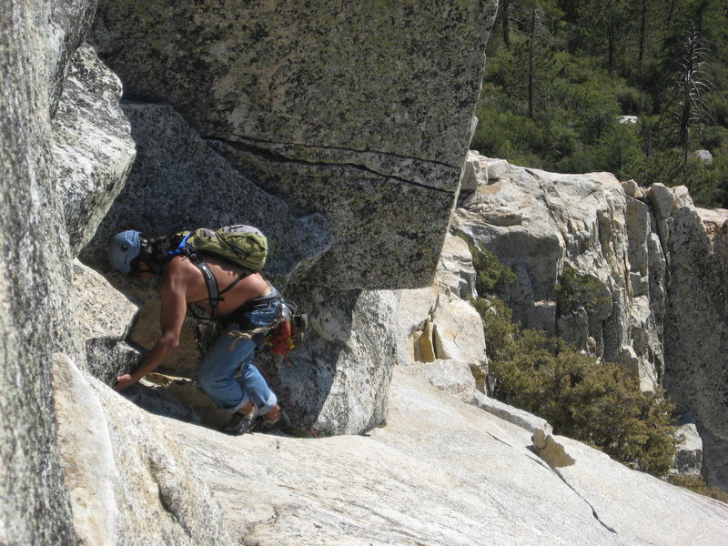 Rock Climbing Photo: Albert coming up the last pitch.  6-26-10