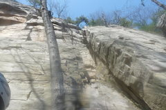 Rock Climbing Photo: Blurry, but shows the route very well. You can't m...