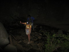 Rock Climbing Photo: Nothing like finishing off with a night time strea...