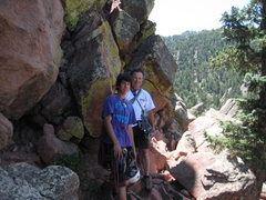 Rock Climbing Photo: Michael and I after rapping off 1st Flatiron.