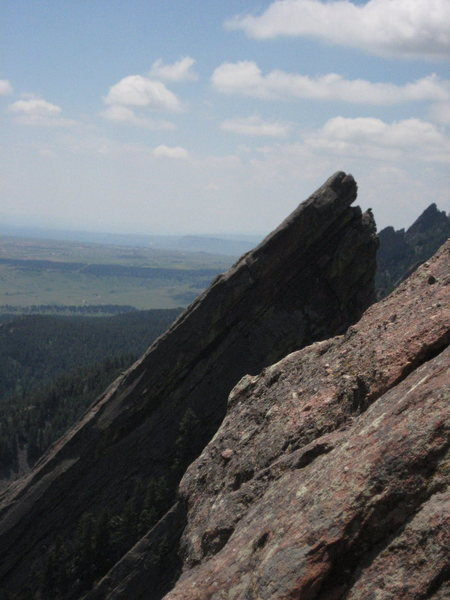 Rock Climbing Photo: 3rd Flatiron and beyond from Zig Zag 3rd belay.