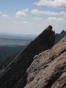 Rock Climbing Photo: 3rd Flatiron and beyond from Zig Zag 3rd belay.