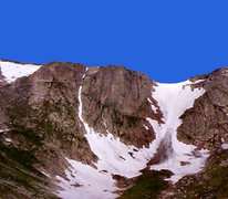 Rock Climbing Photo: Summit Lake Cirque -- Top Gun & Sunrise Couloirs. ...