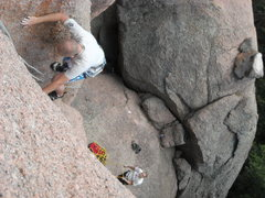 Rock Climbing Photo: Midway through Jack Knife.