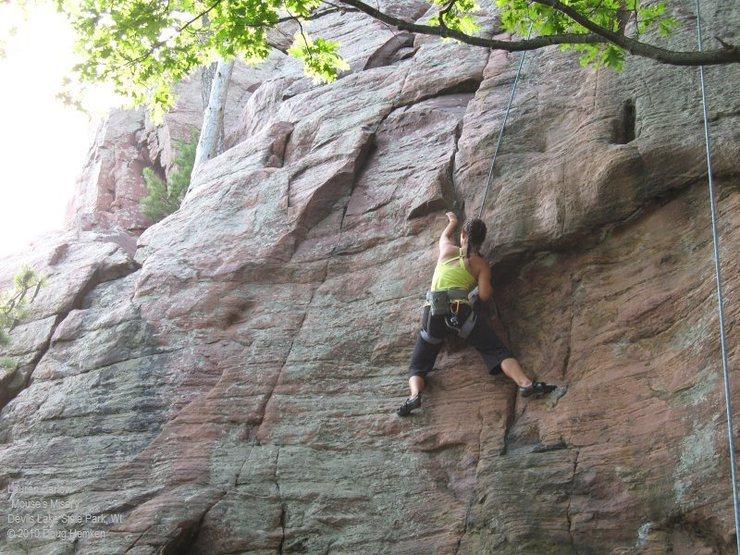 Rock Climbing Photo: Lauren gives it a go
