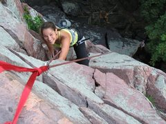 Rock Climbing Photo: The smile should tell you how fun this route is!