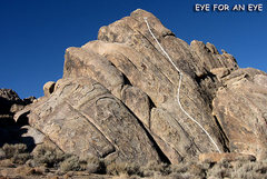 "Rock Climbing Photo: ""Eye For an Eye"". Photo by Blitzo."
