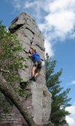 Rock Climbing Photo: Mike Sohasky on the upper part of JR