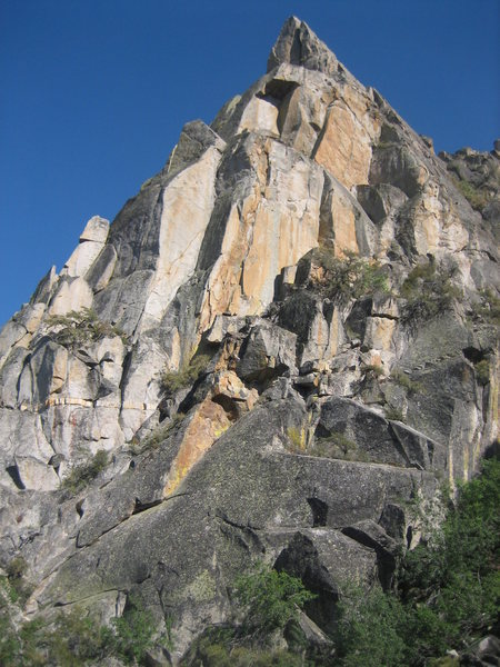 Rock Climbing Photo: The Regular Route and The West Corner of The Steep...