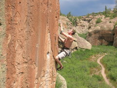 Rock Climbing Photo: Workin' the arete.