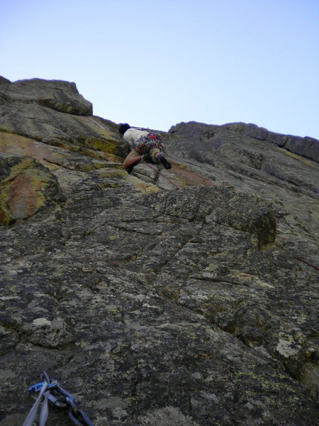 Rock Climbing Photo: Aaron leading. Taken from That's Weak belay anchor...