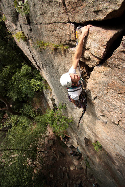 Rock Climbing Photo: Its all good from here...