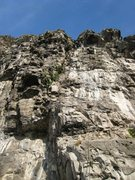 Rock Climbing Photo: La Pierlot: topping out at the top of the obvious ...