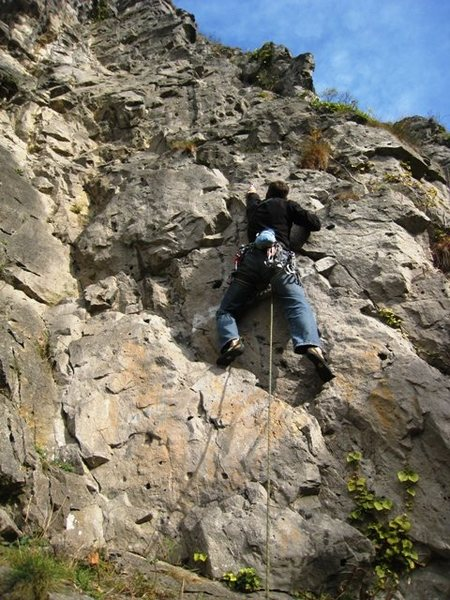 Rock Climbing Photo: Starting up Amazone at Dave