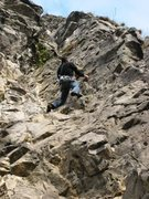 Rock Climbing Photo: Nearing the arete on Amazone
