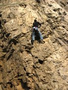 Rock Climbing Photo: Nearing the top of the overhanging section on the ...