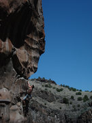Rock Climbing Photo: Resting up before heading into the crux headwall  ...