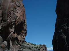 Rock Climbing Photo: Moving off of the terrible 1 1/2 finger pocket  ph...