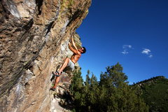 Rock Climbing Photo: Chuck Lepley bouldering in Morrison.