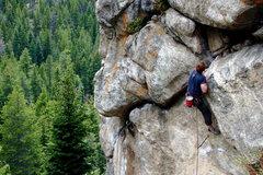 Rock Climbing Photo: Some dude.