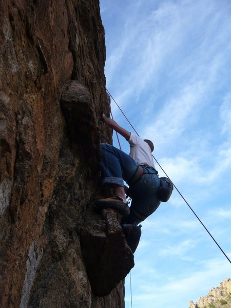 Rock Climbing Photo: The fun part on Chunk