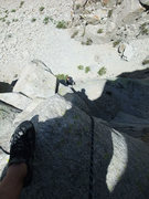 Rock Climbing Photo: Jascha following P1