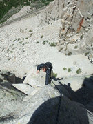 Rock Climbing Photo: almost at the P1 belay