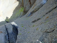 Rock Climbing Photo: closeup of the second 10a crux