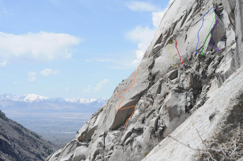 Rock Climbing Photo: The Perserverence Wall  Warhorse can be seen as th...