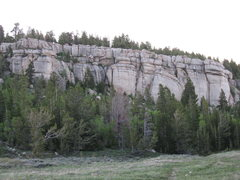 Rock Climbing Photo: Gun Street from the approach trail. In the center ...