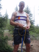 Rock Climbing Photo: roping up for the rappel