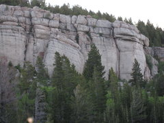 Rock Climbing Photo: The Cowboy King Wall consists of the two sections ...