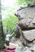 Rock Climbing Photo: Jake on the first ascent of the Happy Birthday Pro...