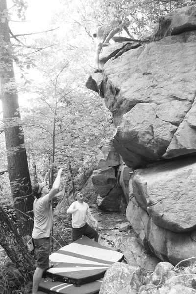 Rock Climbing Photo: Jake topping out the Happy Birthday Prow