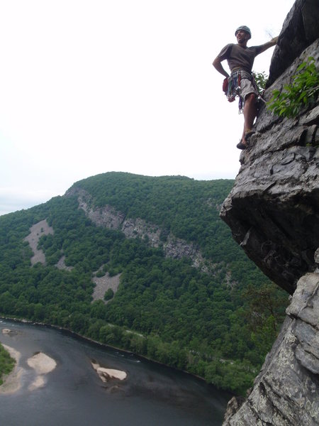 Rock Climbing Photo: The airy and easy 2nd/3rd pitch of Triumvirate.
