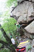 Rock Climbing Photo: Eric attempts the Titan...