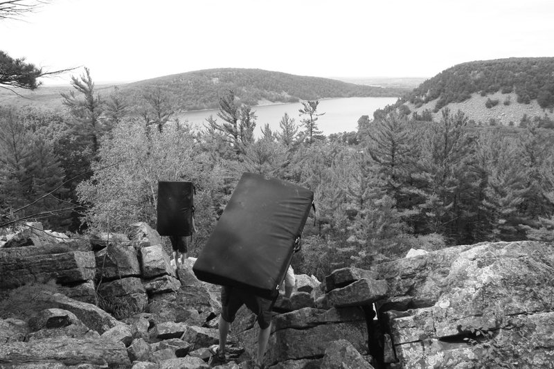 A little talus field scrambling...Devils Lake Style