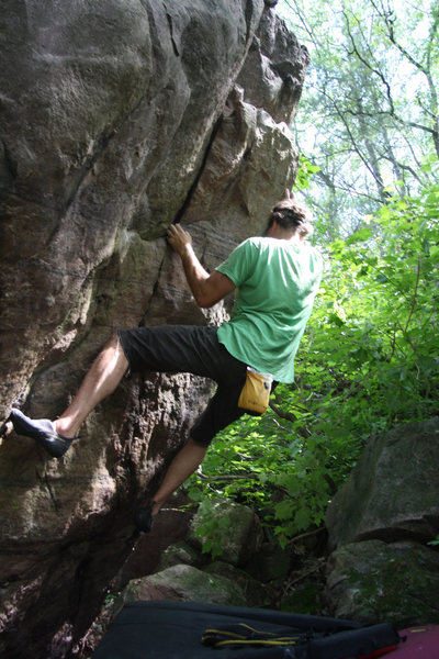 Rock Climbing Photo: Eric on the Ejaculator