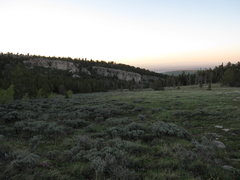 Rock Climbing Photo: The backside of the Iris around sunset. Aspen Glad...