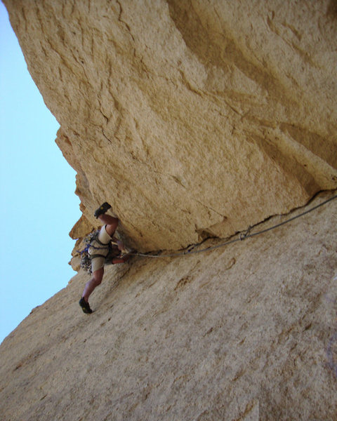 Rock Climbing Photo: The corner on pitch 3.