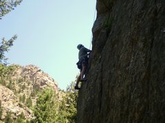 Rock Climbing Photo: Brian in a nice position, before the rock turns &q...