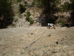 Rock Climbing Photo: Doug on P1 (2nd pitch from the ground) on stellar ...