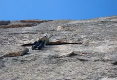 "Rock Climbing Photo: Looking up at the ""half circle"".  Great ..."