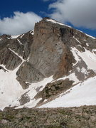Rock Climbing Photo: East Face of Mt. Alice in late June.